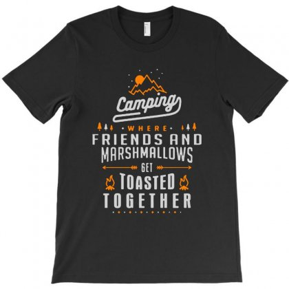 Camping Friends Marshmallov T-shirt Designed By Ninabobo