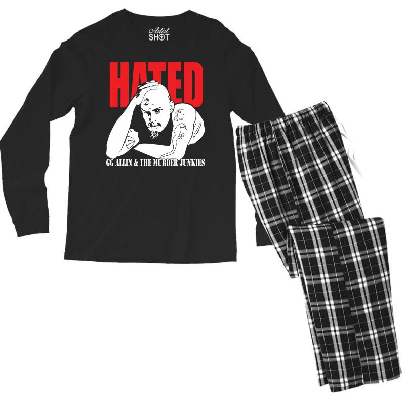 Hated Gg Allin Murder Junkies Men's Long Sleeve Pajama Set | Artistshot