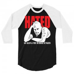 Hated GG Allin Murder Junkies 3/4 Sleeve Shirt | Artistshot