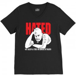Hated GG Allin Murder Junkies V-Neck Tee | Artistshot