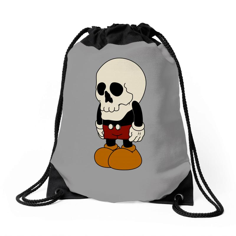a99a4fa9dc6 Custom Mickey Mouse Skull Funny Drawstring Bags By Motleymind ...