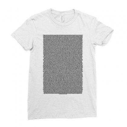 Bee Movie Script White Shirt Ladies Fitted T-shirt Designed By Vr46