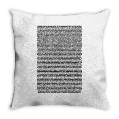 Bee Movie Script White Shirt Throw Pillow Designed By Vr46