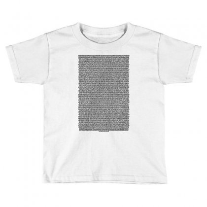 Bee Movie Script White Shirt Toddler T-shirt Designed By Vr46