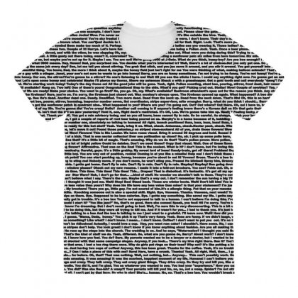 Bee Movie Script White Shirt All Over Women's T-shirt Designed By Vr46