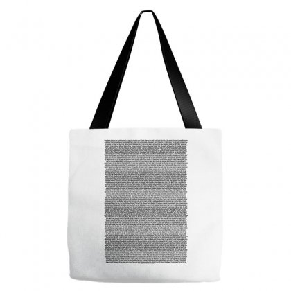 Bee Movie Script White Shirt Tote Bags Designed By Vr46