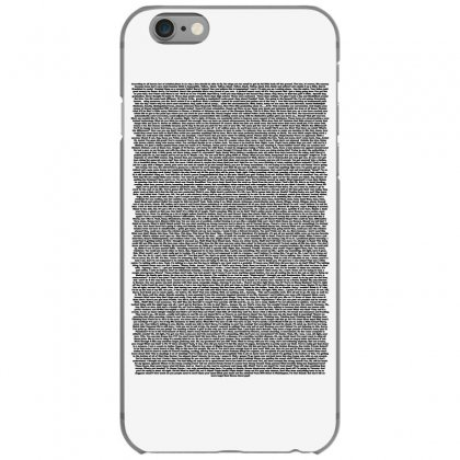 Bee Movie Script White Shirt Iphone 6/6s Case Designed By Vr46