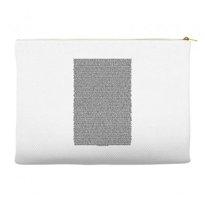 Bee Movie Script White Shirt Accessory Pouches Designed By Vr46