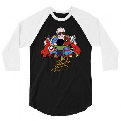 Memorial Rip Stan Lee The Father Of Heroes 3/4 Sleeve Shirt Designed By Vr46