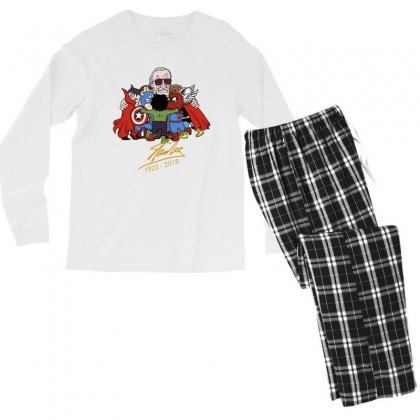 Memorial Rip Stan Lee The Father Of Heroes Men's Long Sleeve Pajama Set Designed By Vr46