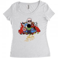 09386d9b Memorial RIP Stan Lee The Father of Heroes Women's Triblend Scoop T-shirt |  Artistshot