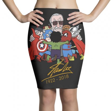 Memorial Rip Stan Lee The Father Of Heroes Pencil Skirts Designed By Vr46