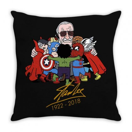 Memorial Rip Stan Lee The Father Of Heroes Throw Pillow Designed By Vr46