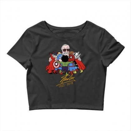 Memorial Rip Stan Lee The Father Of Heroes Crop Top Designed By Vr46