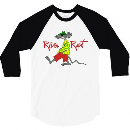 River Rat 3/4 Sleeve Shirt Designed By Paverceat