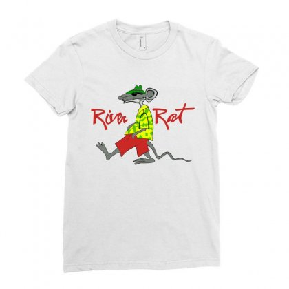 River Rat Ladies Fitted T-shirt Designed By Paverceat