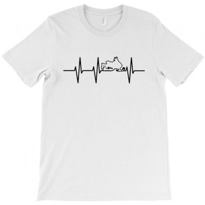 Heartbeat Snowmobile T-shirt Designed By Ninabobo