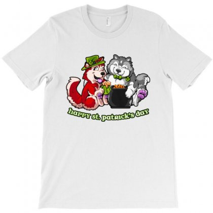 Husky And Malamute Pot O'gold T-shirt Designed By Ninabobo