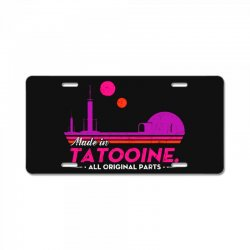 made in tatooine. all original parts. License Plate | Artistshot