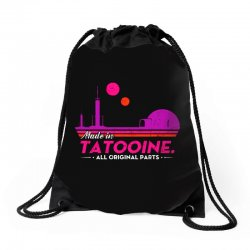 made in tatooine. all original parts. Drawstring Bags | Artistshot