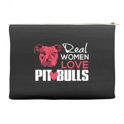 real women love pit bulls Accessory Pouches | Artistshot