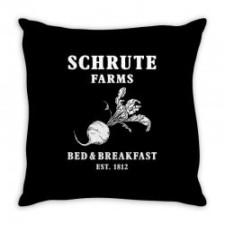 schrute farms bed and breakfast Throw Pillow | Artistshot