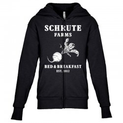 schrute farms bed and breakfast Youth Zipper Hoodie | Artistshot