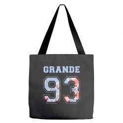 ariana grande 93 with floral pattern Tote Bags | Artistshot