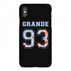 ariana grande 93 with floral pattern iPhoneX Case | Artistshot