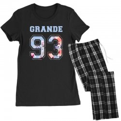 ariana grande 93 with floral pattern Women's Pajamas Set | Artistshot
