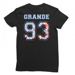 ariana grande 93 with floral pattern Ladies Fitted T-Shirt | Artistshot