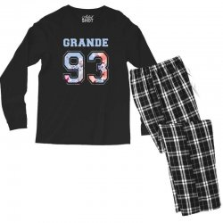 ariana grande 93 with floral pattern Men's Long Sleeve Pajama Set | Artistshot