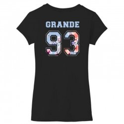 ariana grande 93 with floral pattern Women's V-Neck T-Shirt | Artistshot