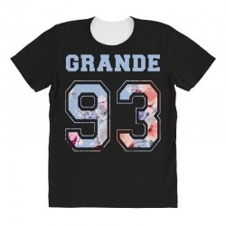 ariana grande 93 with floral pattern All Over Women's T-shirt | Artistshot