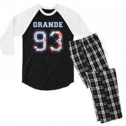 ariana grande 93 with floral pattern Men's 3/4 Sleeve Pajama Set | Artistshot