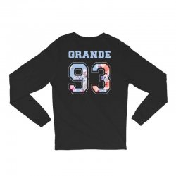 ariana grande 93 with floral pattern Long Sleeve Shirts | Artistshot