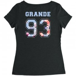 ariana grande 93 with floral pattern Women's Triblend Scoop T-shirt | Artistshot