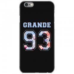 ariana grande 93 with floral pattern iPhone 6/6s Case | Artistshot