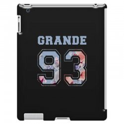 ariana grande 93 with floral pattern iPad 3 and 4 Case | Artistshot