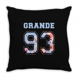 ariana grande 93 with floral pattern Throw Pillow | Artistshot