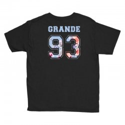 ariana grande 93 with floral pattern Youth Tee | Artistshot