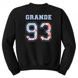 ariana grande 93 with floral pattern Youth Sweatshirt | Artistshot