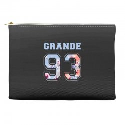 ariana grande 93 with floral pattern Accessory Pouches | Artistshot