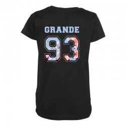 ariana grande 93 with floral pattern Maternity Scoop Neck T-shirt | Artistshot