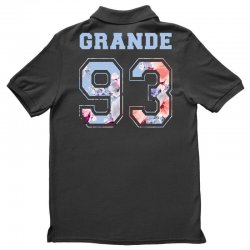 ariana grande 93 with floral pattern Polo Shirt | Artistshot