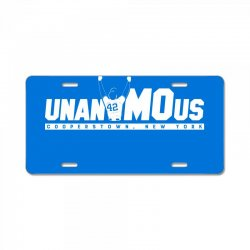 unanimous cooperstown, new york License Plate | Artistshot