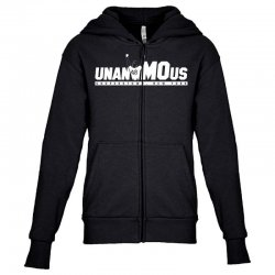 unanimous cooperstown, new york Youth Zipper Hoodie | Artistshot