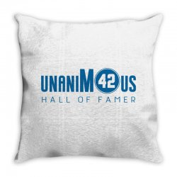 unanimous hall of famer Throw Pillow | Artistshot