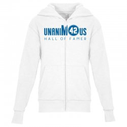 unanimous hall of famer Youth Zipper Hoodie | Artistshot