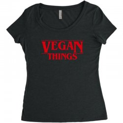 vegan things Women's Triblend Scoop T-shirt | Artistshot
